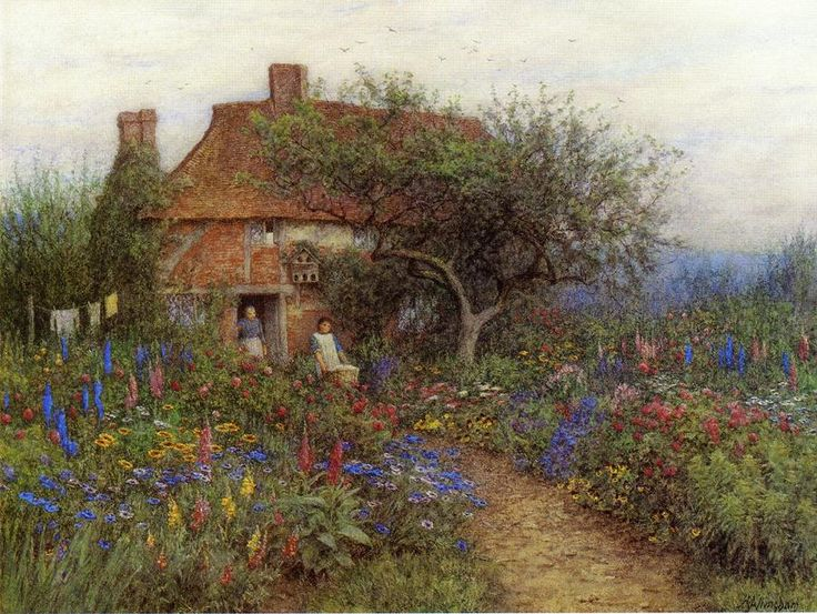 A Cottage Near Brook Witley Surrey Helen Mary Elizabeth Allingham R