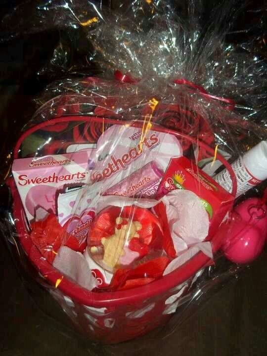 32 best valentine baskets images on pinterest valentine baskets diy valentines gift basket under 10 negle Image collections