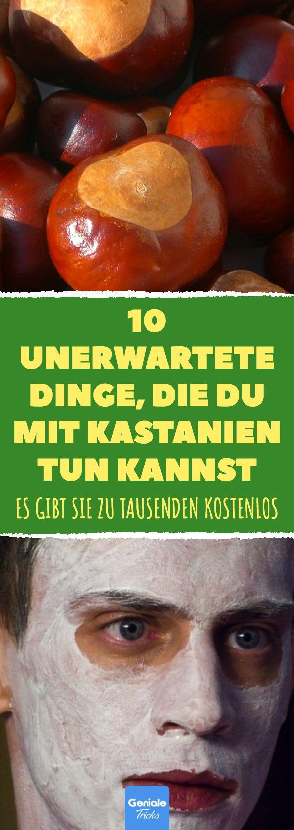 10 unerwartete Dinge, die du mit Kastanien tun kannst. Es gibt sie zu Tausenden …