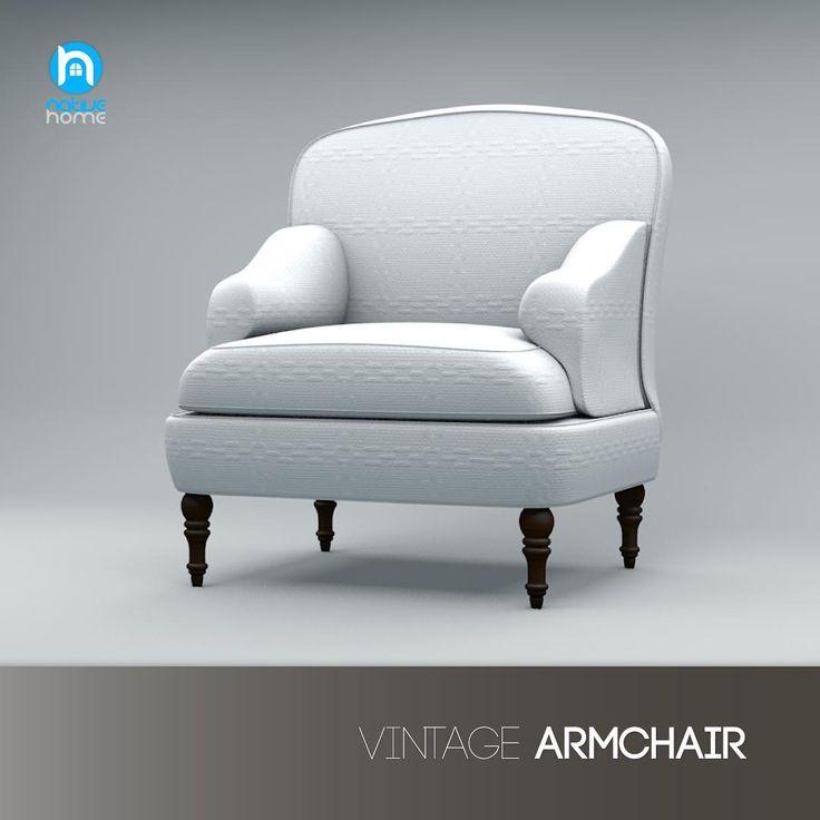 Винтажное кресло 3D визуализация cinema 4D #дизайнинтерьера #дизайн #дизайндома #дизайнмебели #кресло #design #homedesign #interiors #interiordesign #furniture #furnituredesign #armchair
