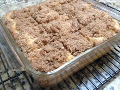 Easy Crumb Coffee Cake ~ This buttery crumb coffee cake is EASY & tastes AMAZING!!! This will be our holiday go to breakfast from now on. TRY IT...you'll love it!