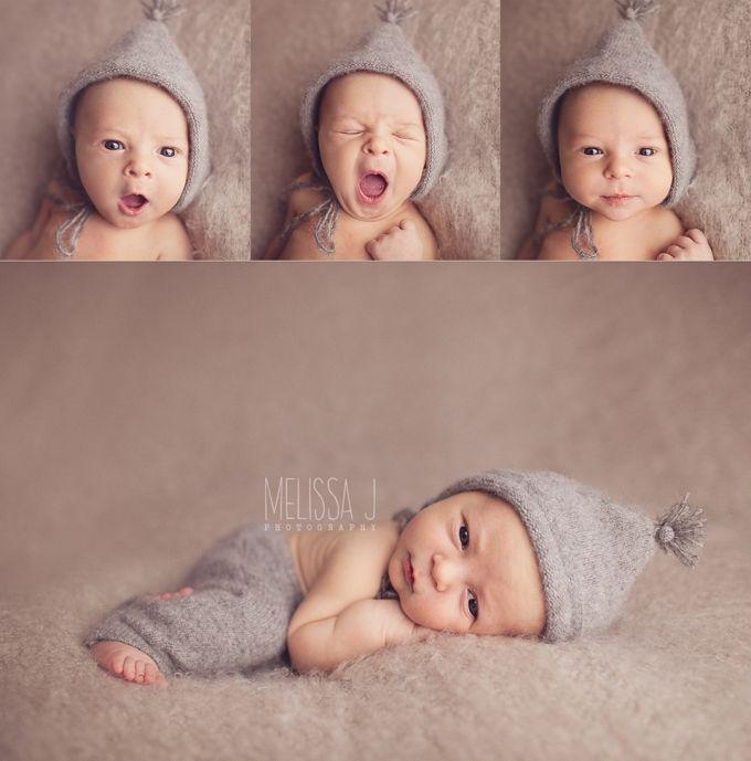 Awake newborn images