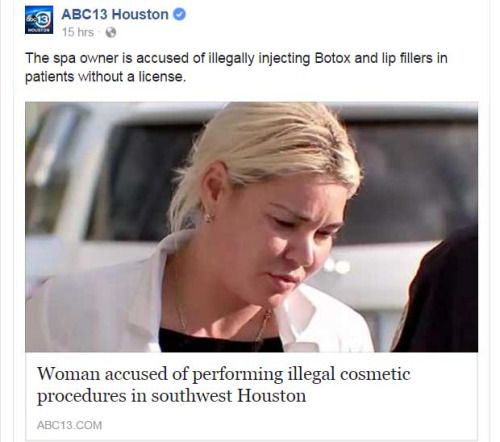 "#ICYMI- In case you missed it: Dr. Franklin Rose was asked last night by #ABC13Eyewitness News Reporter Marla Carter to speak about the #sting operation & #arrest of a #medicalspa owner that occurred in #Houston on Wednesday afternoon. Franklin A. Rose, MD, a Houston #plasticsurgeon, said injecting unknown material into your body can be extremely dangerous.  ""Who knows what could happen. It could be poisonous. It could be stuff that's used for laboratory animals. You don't really know. These…"