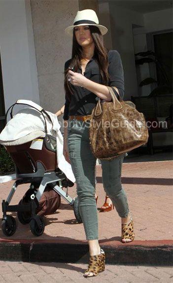 Khloe Kardashian Style and Fashion - J Brand Houlihan Cargo Skinny Pants on Celebrity Style Guide