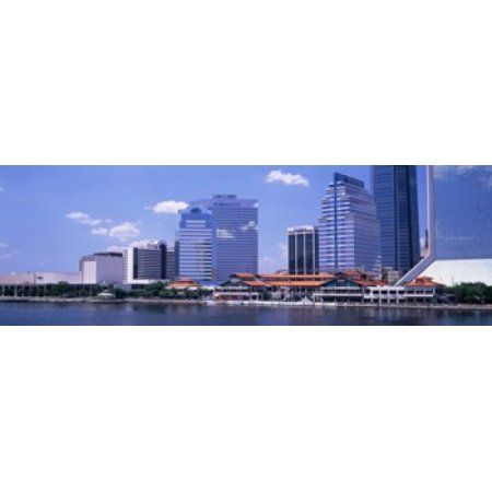 Skyline Jacksonville FL USA Canvas Art - Panoramic Images (36 x 12)