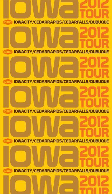 Draplin Design Co. Iowa Tour Graphic. Rad.