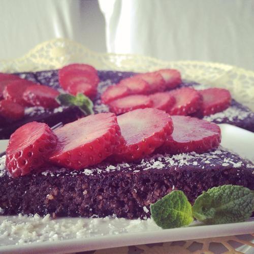 Čoko-kokos koláč bez múky