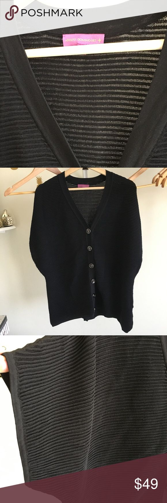 Adolfo Dominguez big button cardigan Short dolman sleeves new without tags in perfect condition Cardigan. Very high end and well made. Size small but relax fit. Runs big. Adolfo Dominguez Sweaters Cardigans