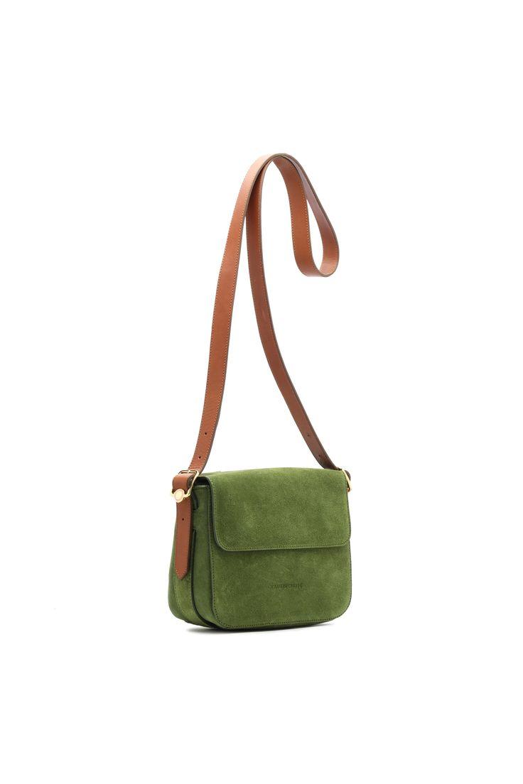 L'Autre Chose shoulder bag in olive.
