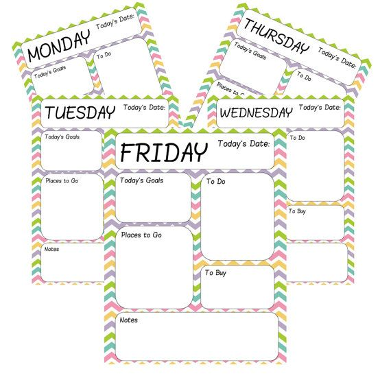 Printable Daily Planner Sheets