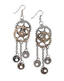 Steampunk Gear Earrings                                                       …