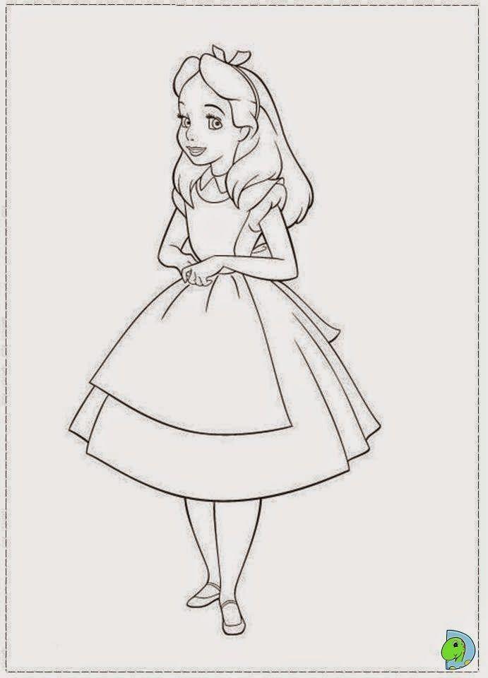 Desenhos De Alice No Pais Das Maravilhas Para Colorir Desenhos