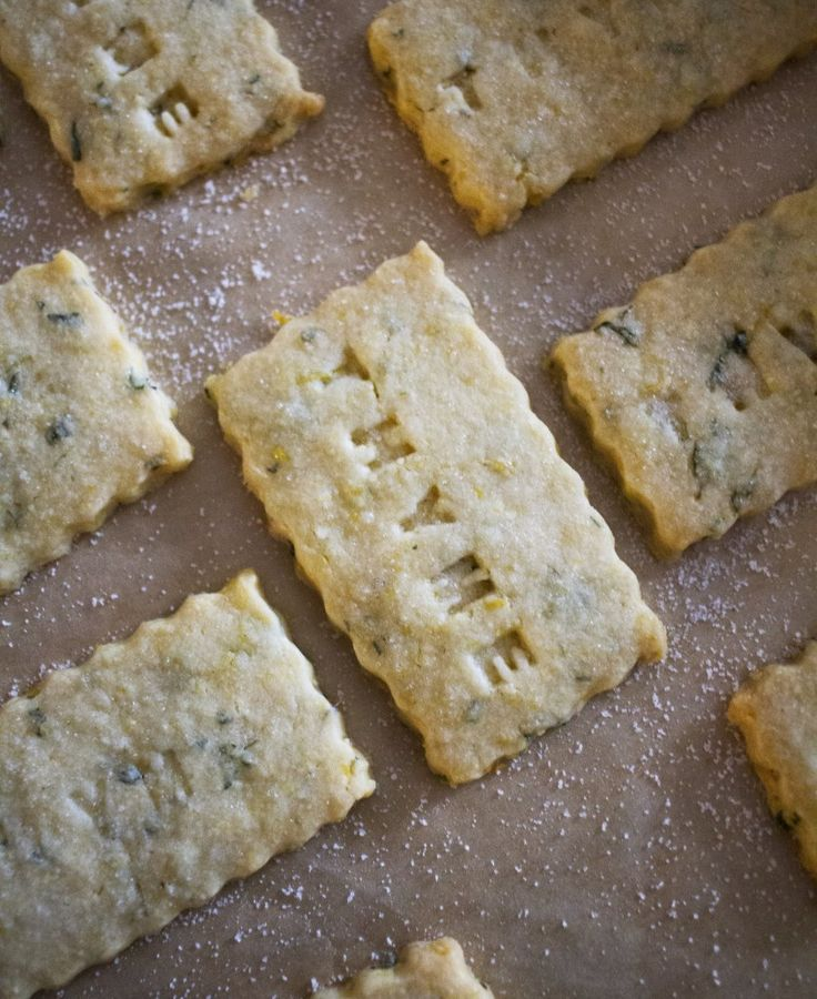 Lemon Thyme Cornmeal Shortbread Cookies
