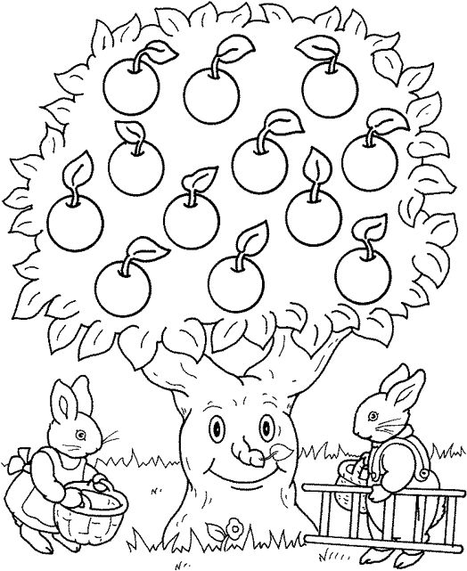 kleurplaat appels
