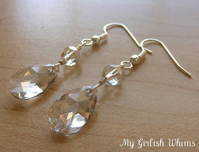 Learn How to Wire Wrap: Crystal Earrings tutorial from the My Girlish Whims blog.