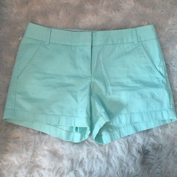 J. Crew Chino Short Turquoise chino shorts never worn J. Crew Shorts Cargos