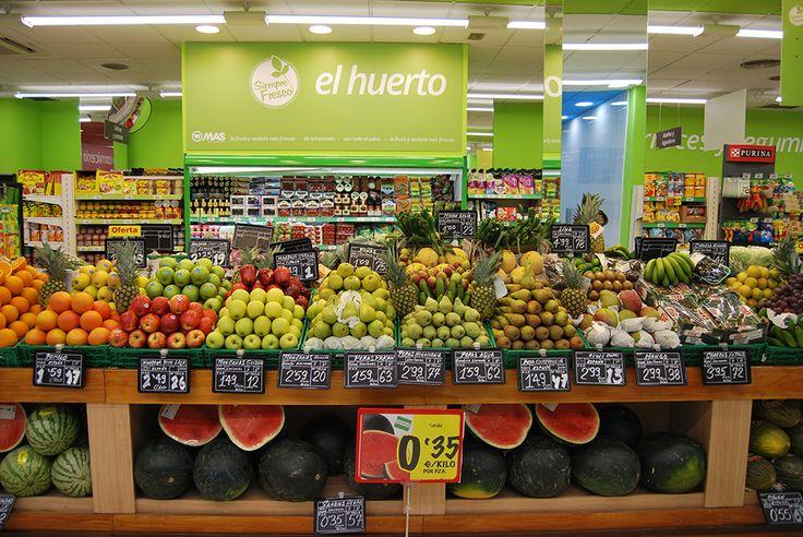 Nuestro huerto de la tienda de San Jacinto, con todas las verduras, hortalizas y frutas muy muy frescas!