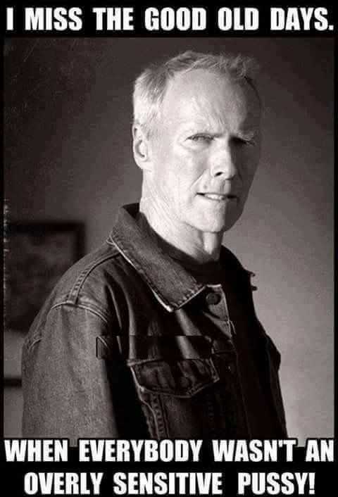 ooh a picture of Clint Eastwood, so whatever it says must be old timey folksey wisdom!  He's a very intelligent man