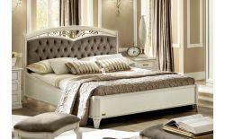 Κλασικό Λευκό Κρεβάτι Με Καπιτονέ Κεφαλάρι CG-370144/1
