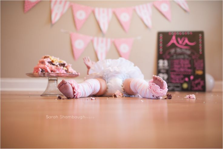 First Birthday session!  If she would do this, it would be adorable!