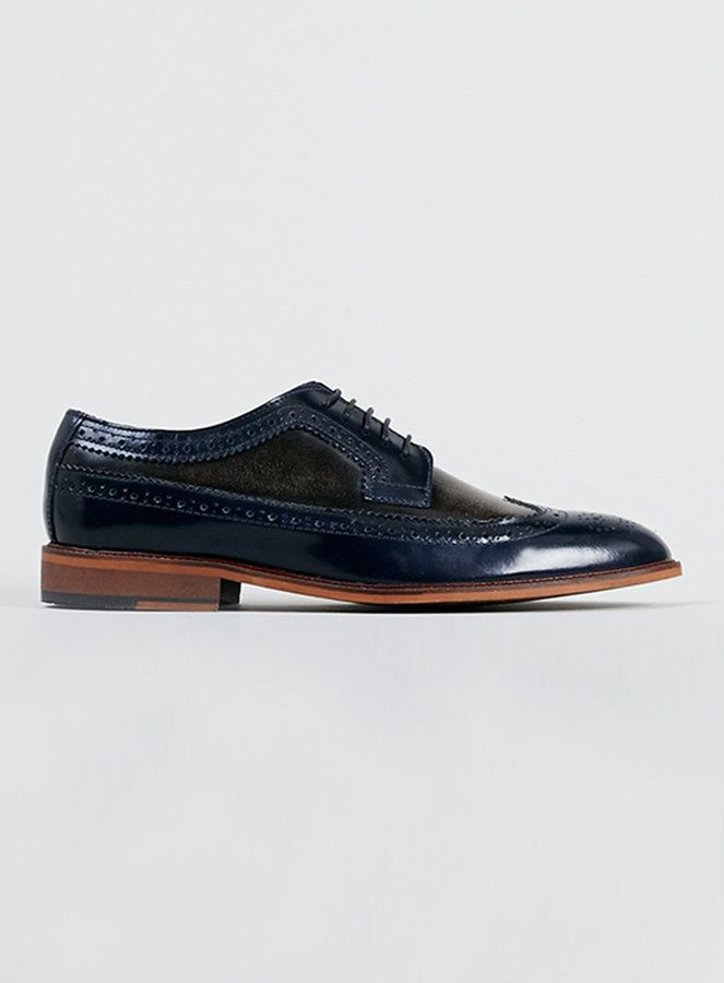 $100, Delta Two Tone Brogue Shoes by Topman. Sold by Topman. Click for more info: http://lookastic.com/men/shop_items/130462/redirect