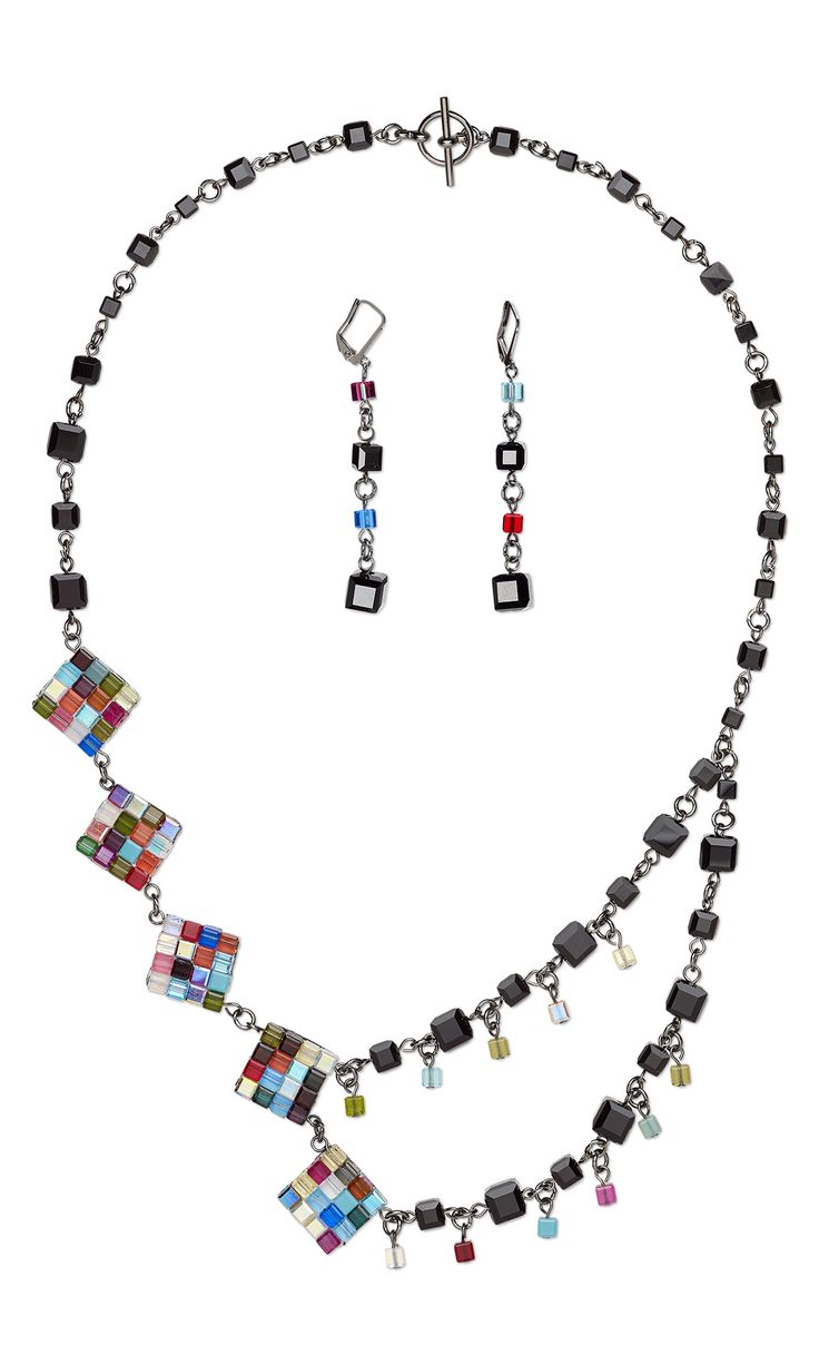 Design a t shirt rubric - Jewelry Design Double Strand Necklace And Earring Set With Swarovski Crystal Fire Mountain