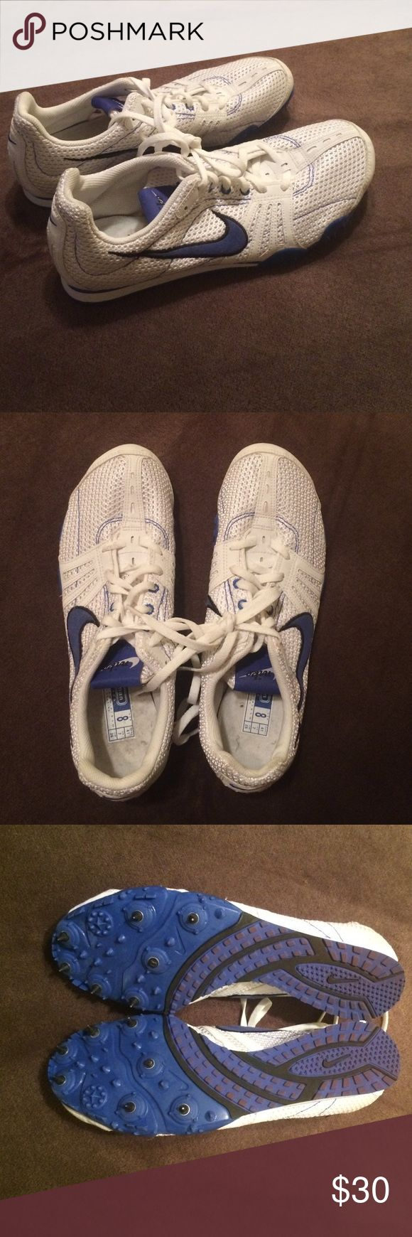Spiked running shoes Nike spiked tennis shoes. Great condition. Nike Shoes Athletic Shoes