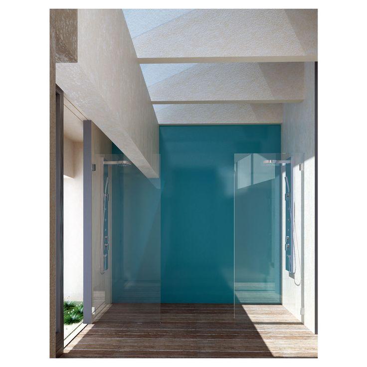 Pipers 4mm Flexicryl Splashback Shower Wall - Aqua 122x244cm
