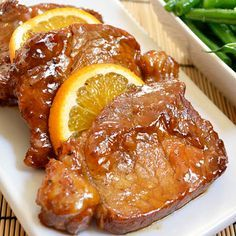 Orange Molasses Pork Chops - these were good. I didn't have orange juice concentrate so i just used regular juice. I also reduced the marinade because there wasn't enough sauce. Would be good on the grill too.