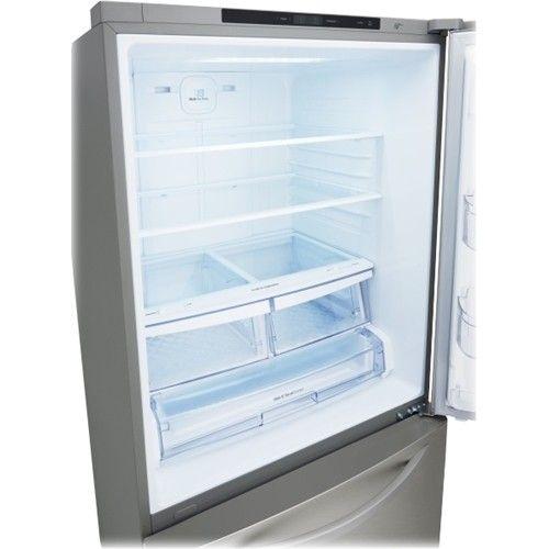 "LG - 33"" Wide Large Capacity Bottom Freezer Refrigerator - Stainless Steel…"