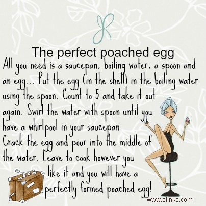 The perfect poached egg, so, so simple!