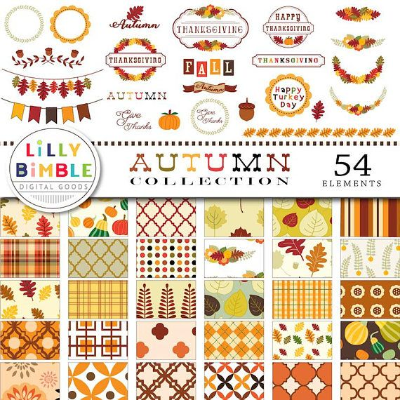 COLLECTION dautomne Thanksgiving clipart clipart automne