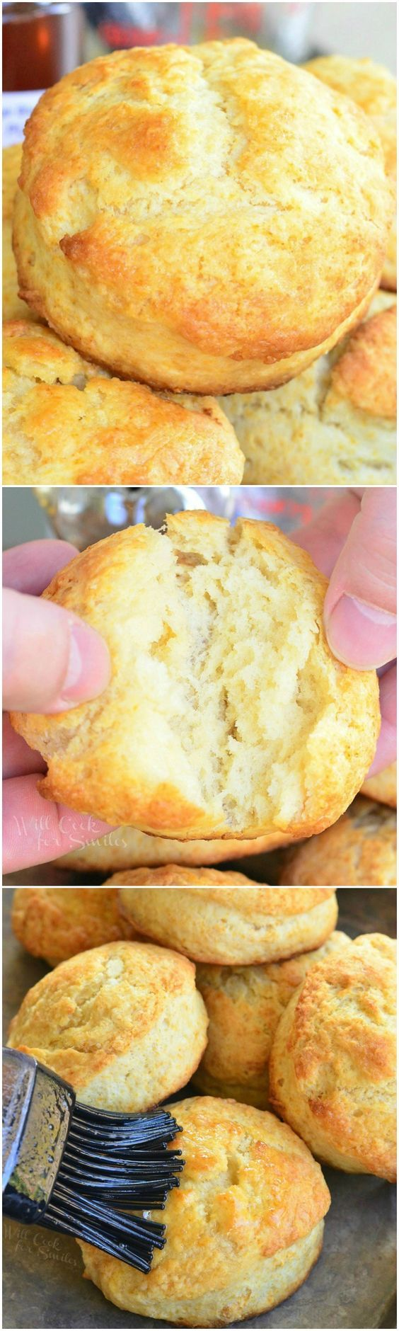 Perfect Honey Butter Biscuits! Soft fluffy biscuits made with honey for a touch of sweetness and brushed with honey butter.