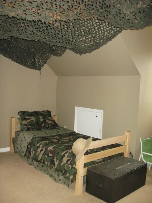 camoflage room decoration | Themed Bedroom Ideas For Your Little Boy!