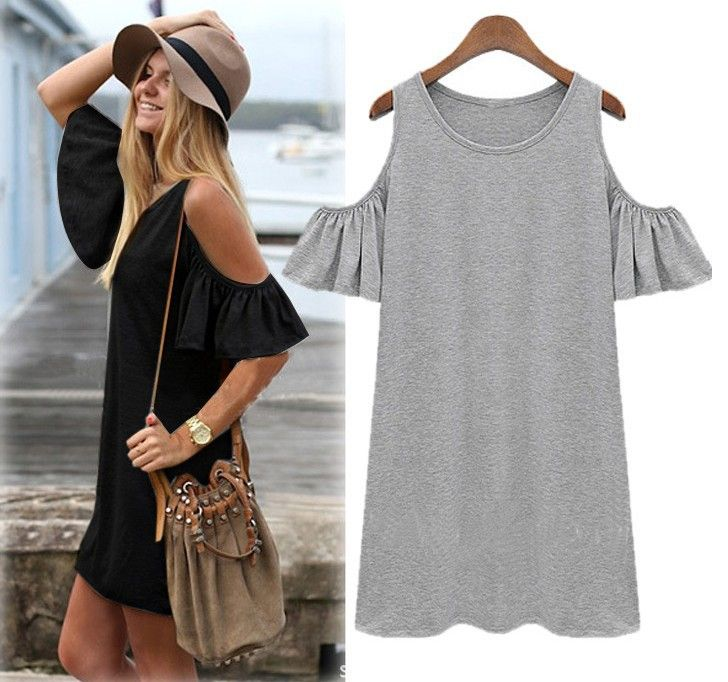 Vestido de verão 2015 roupas de algodão de manga borboleta bonito strapless…