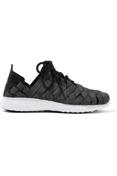 Nike - Juvenate Premium Faux Textured Leather-trimmed Woven Sneakers - Gray - US10.5