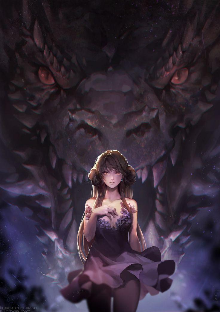 2016 dragon girl, S caesty on ArtStation at https://www.artstation.com/artwork/d6N8K