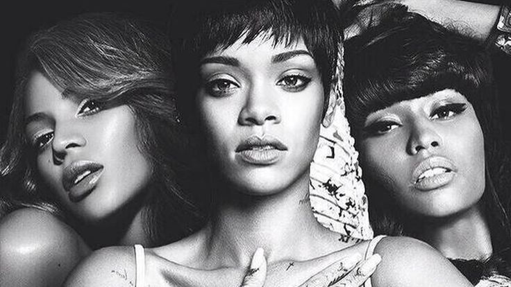 A bunch of photos depicting Beyonce, Rihanna, and Nicki Minaj as a supergroup have been circulating around Twitter for April Fools Day.