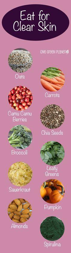 vegan food to eat for lighter skin -  Find All Natural Skin Cares at www.bellashoponline.com