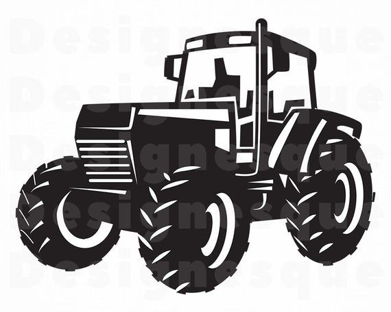 Tractor 4 Svg Tractor Svg Farm Tractor Svg Tractor Etsy In 2021 Tractor Silhouette Tractors Tractor Clipart
