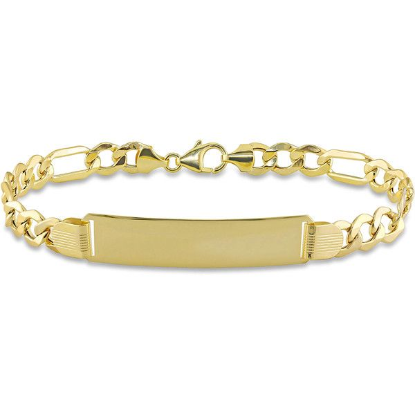 Miadora 10k Yellow Gold Mens ID Link Bracelet ($554) ❤ liked on Polyvore featuring men's fashion, men's jewelry, men's bracelets, yellow, mens gold bracelets, mens bracelets, mens yellow gold bracelets, mens watches jewelry and mens gold chains