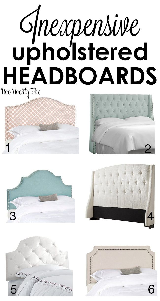 Inexpensive upholstered headboards! Love these!