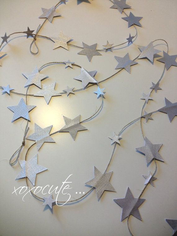 grey silver LITTLE STARS decoration fairy little by xoxocute, $12.00