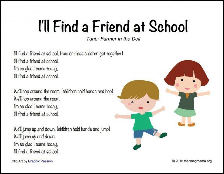 Back To School Songs For Preschoolers Rhymes Songs