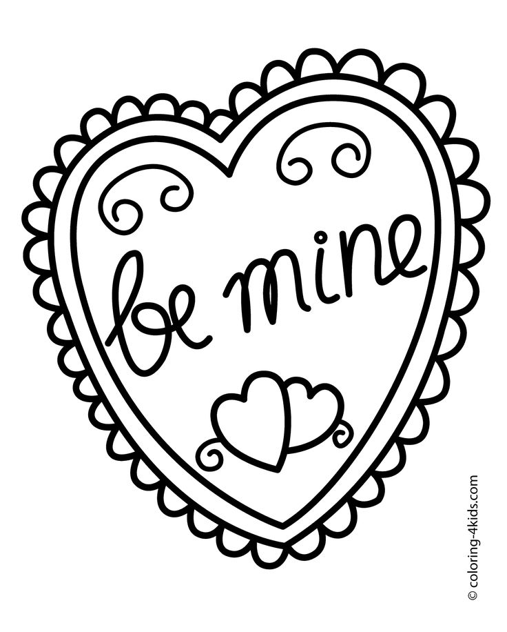 It's just a photo of Eloquent Happy Valentines Day Heart Coloring Page