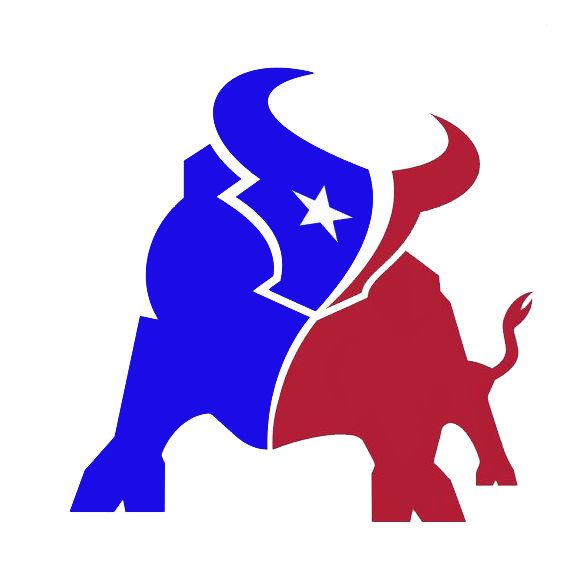 Vinyl Decal Texas Football Houston Bull By
