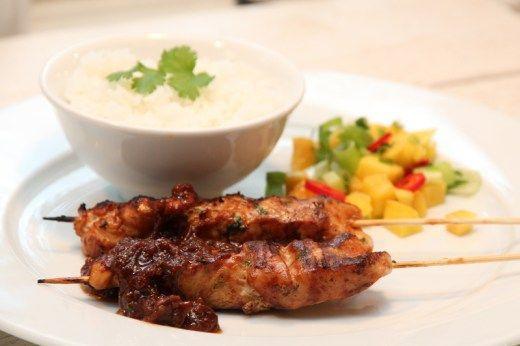 Kylling satay med peanøttsaus