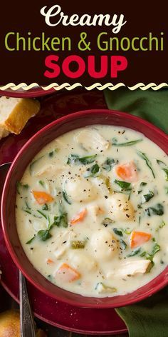 Creamy Chicken and Gnocchi Soup (Olive Garden Copycat) - Cooking Classy