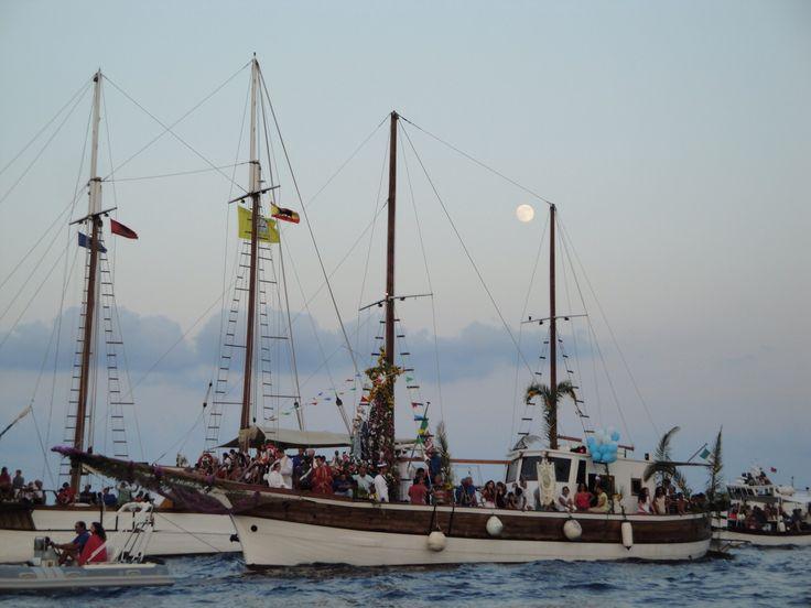 #Lipari Madonna di Porto Salvo processione via mare
