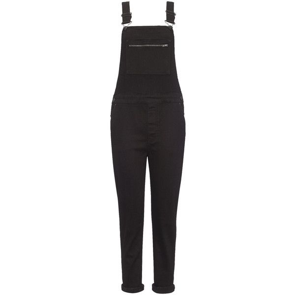 Whistles Denim Dungarees found on Polyvore featuring jumpsuits, overalls, jumpsuit, pants, jeans, one, black, denim overalls, black overalls and denim dungaree